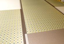 和紙素材のモダン乱敷き新畳のヘリなし琉球畳